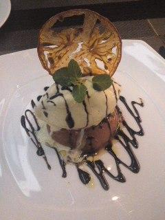 完熟トマトのクリームブリュレ